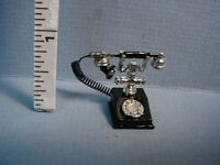 Dollhouse Miniature Telephone - Old Style Rotary - G8638 Town Square 1/12 Scale
