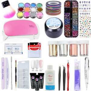 UV-LED-Lamp-Dryer-With-Nail-Gel-Polish-Kit-Soak-Off-Manicure-Set-Nails-Art-Tool