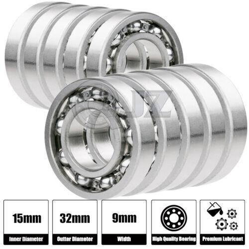 10x 6002-OPEN Ball Bearing 15mm x 32mm x 9mm QJZ Brand NEW Premium