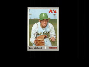 1970 Topps #719 Jim Roland Athletics EX