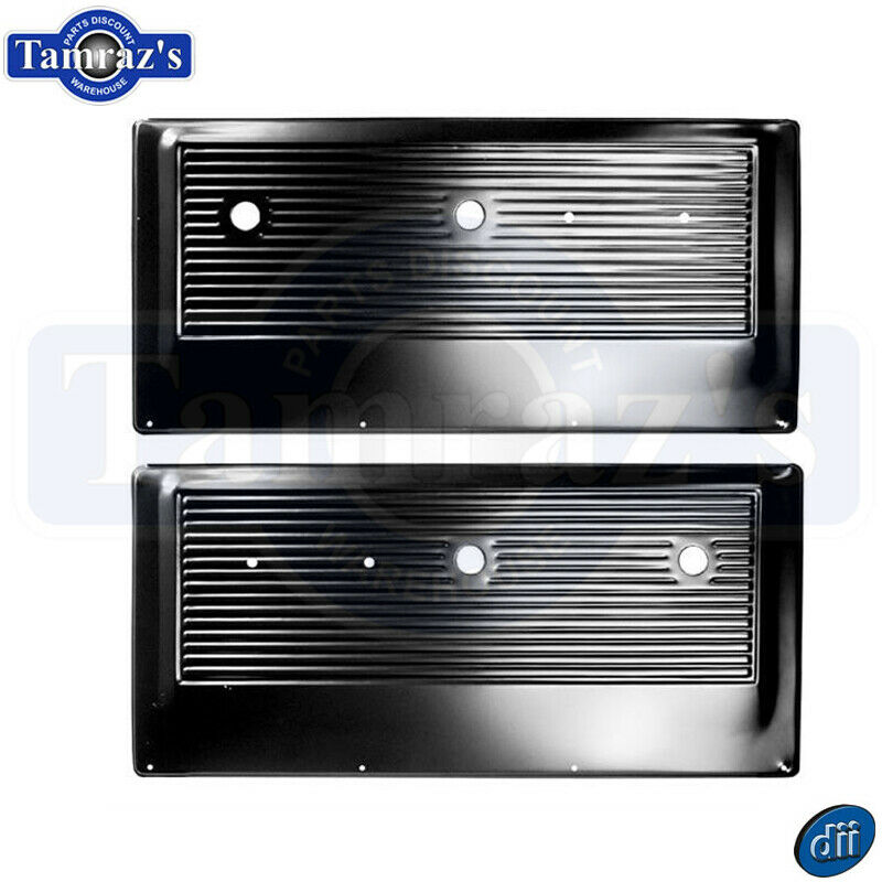 67-72 Chevy//GMC Pickup Truck Black Inner Interior Stamped Steel Door Panel PAIR