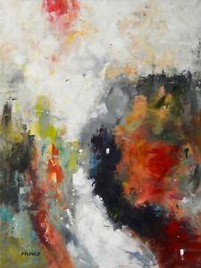 Big-Original-Acrylic-Painting-on-Canvas-Abstract-Art-by-Hunoz-30-x-40-034
