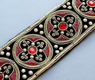 Our Finest Hand-Beaded, Wide Trim. Traditional Style