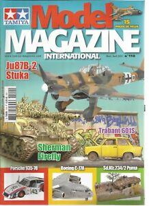 TAMIYA-MODEL-MAGAZINE-N-110-Ju87B-2-STUKA-SHERMAN-FIREFLY-BOEING-C-17A
