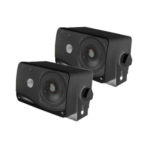 "Silver Marine 6.5/"" Speakers,Antenna 3.5/"" Box Speakers,White Bluetooth USB Radio"