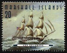 USS DELAWARE (1828) 74-Gun Ship of the Line US Navy Warship Stamp (1997)