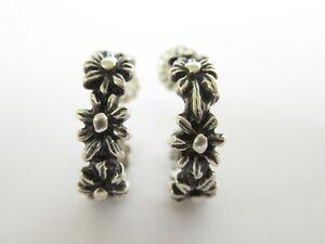 Vintage Retired James Avery Sterling Silver Margarita Daisy Hoop Earrings 3 4 Ebay