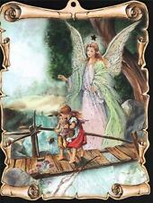 VERY NICE GUARDIAN ANGEL WITH CHILDREN PICTURE HOME INTERIOR DECOR