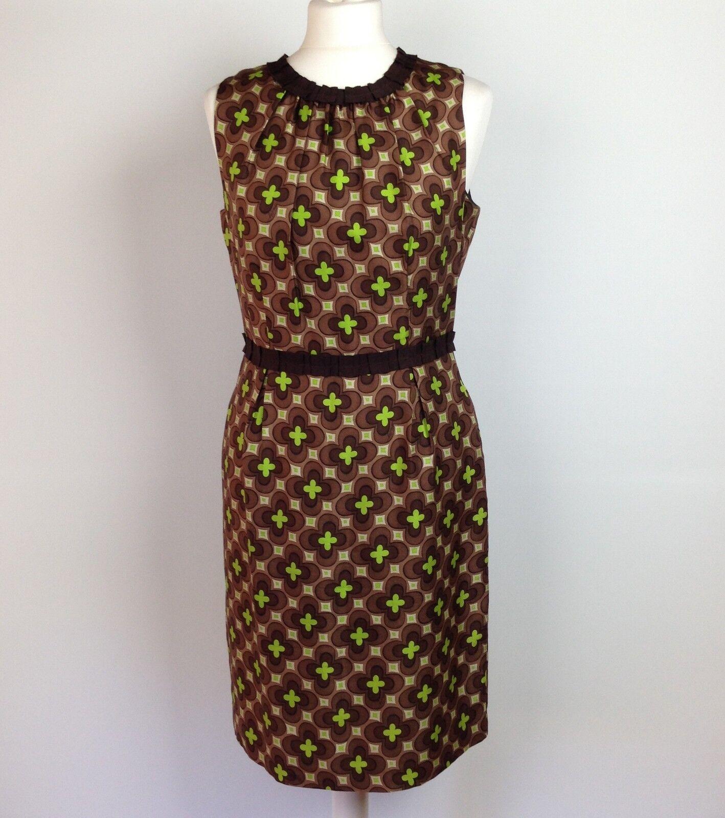 Milly of New York Dress US Größe 6 UK Größe 10 braun Silk Shift damen