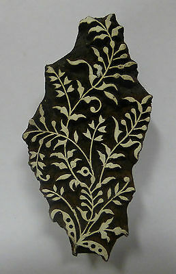 Fancy Floral Shaped 10.5cm Indian Fine Hand Carved Wooden Printing Block (FL4)