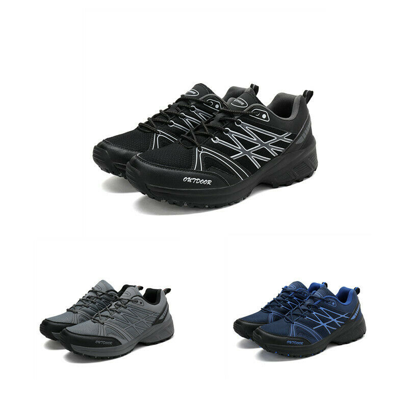 Mens Outdoor Mesh Solid Athletic Lace Up Casual Sport Climbing Trainers shoes