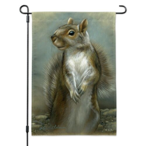 Mischievous Squirrel Garden Yard Flag