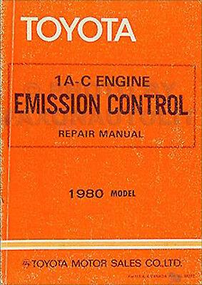 1980 Toyota Tercel Emissione Controllo Manuale 80 Originale Motore Riparazione