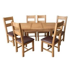 Dining-Table-Extendable-Oak-Country-Living-amp-6-Dining-Chairs