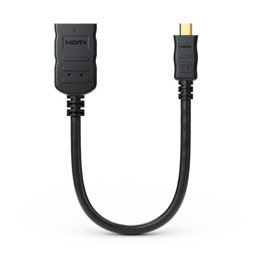 deleyCON Micro HDMI Portsaver Adapter Kabel 4K UHD 2160p Micro HDMI auf HDMI