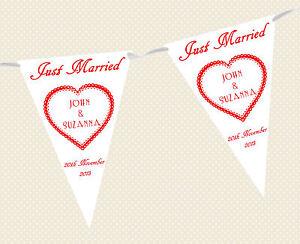 Personnalise-Mariage-Bunting-Banniere-Just-Married-Choix-de-Couleurs-Drapeau
