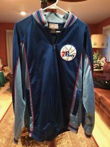53eb1d400 Image is loading Hardwood-Classics-Philadelphia-76ers-Warm-Up-Jacket-Size-