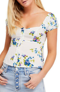 Xs White To Womens Close Ob775846 People Free Size Combo You Ivory Floral Blouse q6BvAw