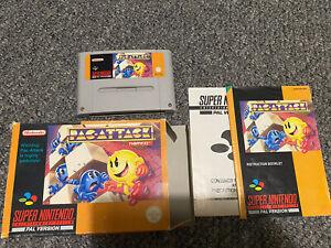 PAC-ATTACK SNES. UK PAL Pac Attack Para Super Nintendo. juego Raro Pac Man