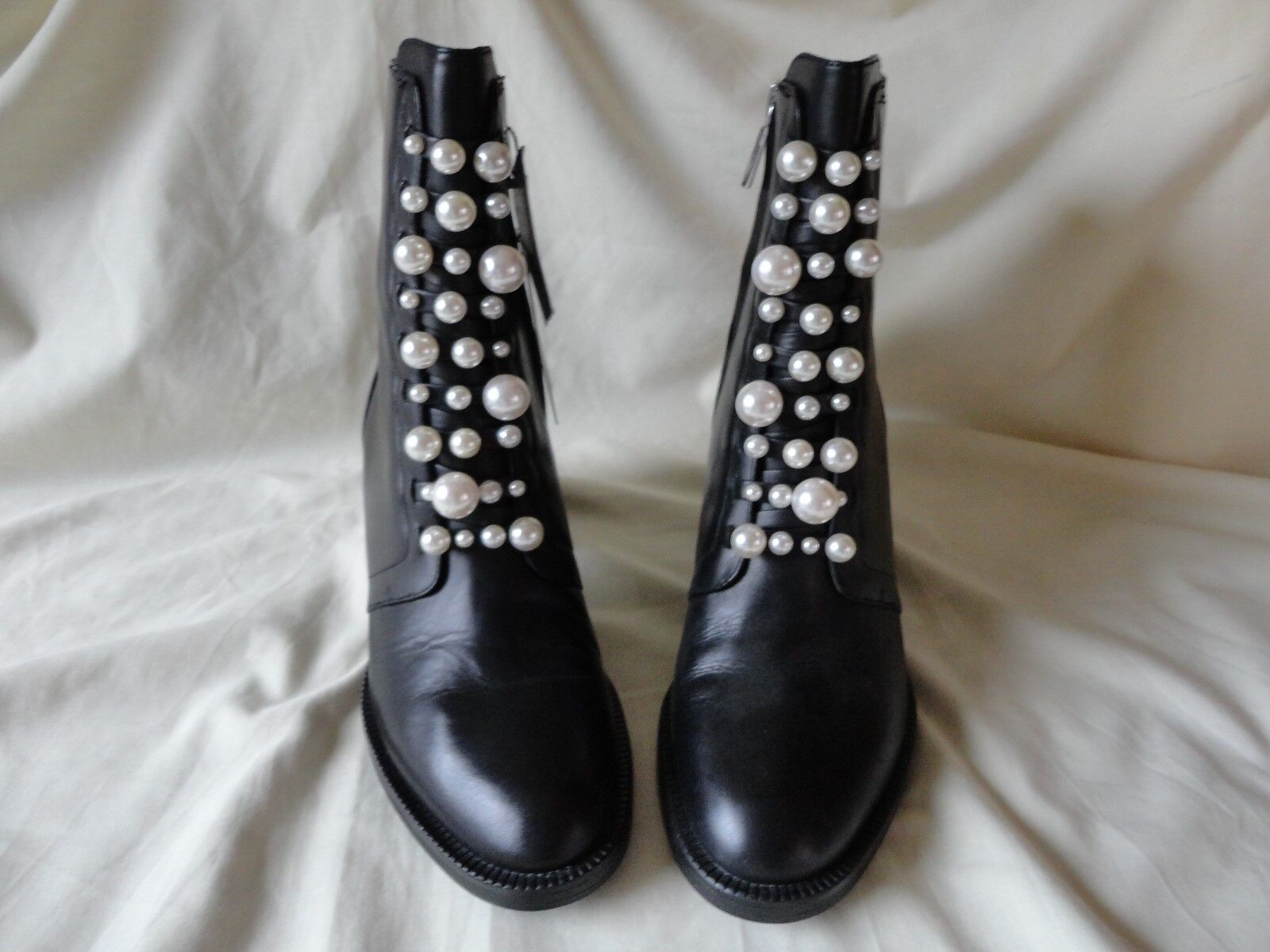 ZARA BLACK BE LEATHER ANKLE BOOT WILL BE BLACK SENT SIGNED RECORDED dca0fb