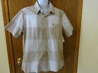 Men's Rue 21 Carbon Beige / White Shirt Size Xl Short Sleeves Msp $16.99