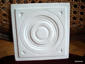 Stucco-kleine-ART-DECO-Stuckrosette-100-249-Rosette-aus-Stuck