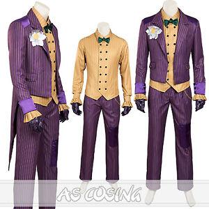 Arkham Asylum Dark Knight Joker Cosplay Costume Halloween Costume Custom Made