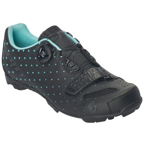Fahrradschuhe & Überschuhe Scott MTB Comp Boa Damen Fahrrad Schuhe schwarz/türkis 2019