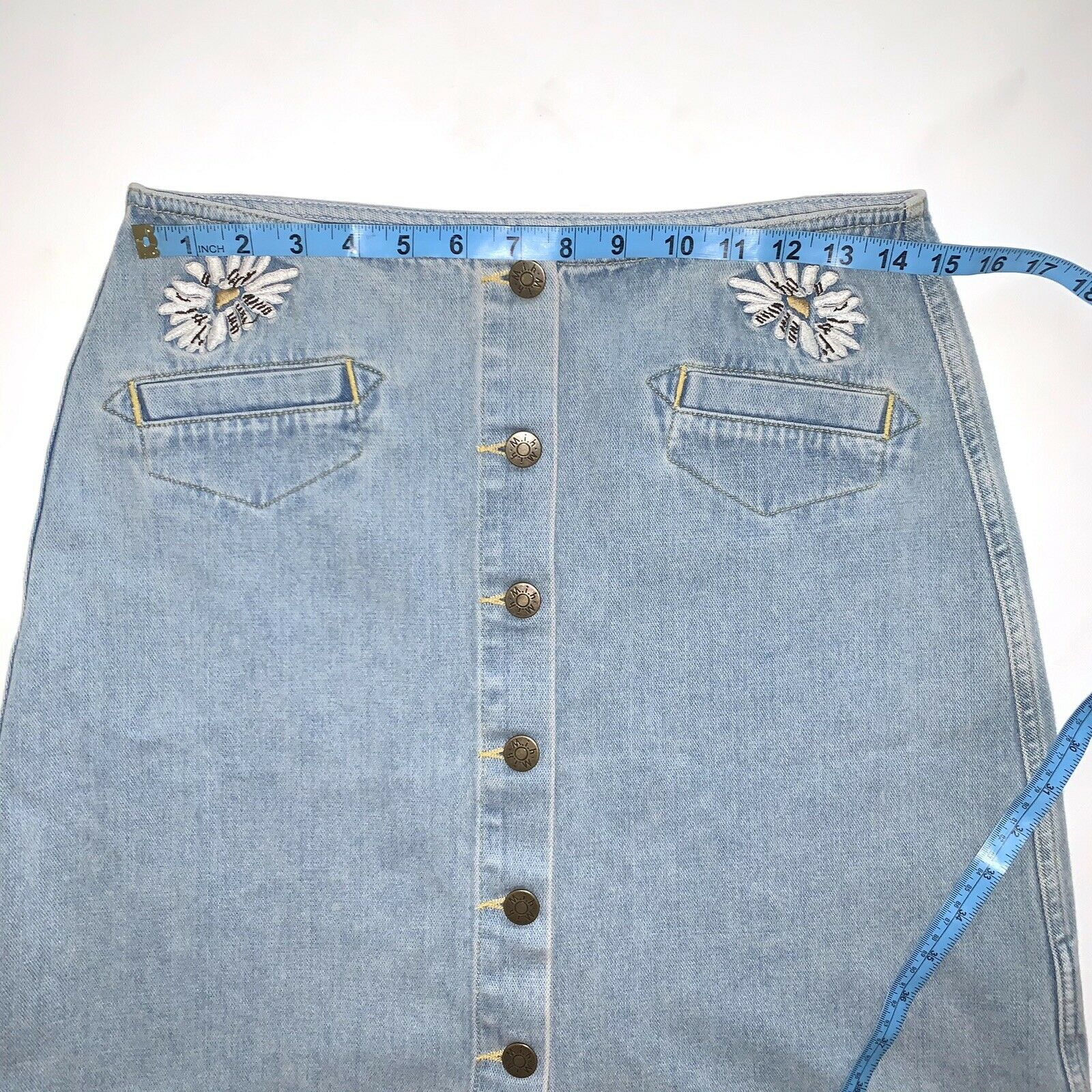 Anthropologie Skirt M.i.H Jeans Button Front A Li… - image 7
