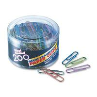 Officemate Translucent Paper Clips Vinyl Giant 200/tub Be/pe/gn/rd/sr 97212