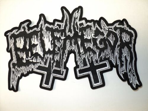 BELPHEGOR SHAPED LOGO EMBROIDERED BACK PATCH
