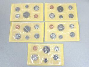 1969-ROYAL-CANADIAN-MINT-UNCIRCULATED-COIN-SETS-SET-OF-5-IN-THE-ORIGINAL-BOX