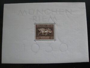 THIRD-REICH-Mi-Block-4-mint-never-hinged-Braunes-Band-stamp-sheet-CV-38-50