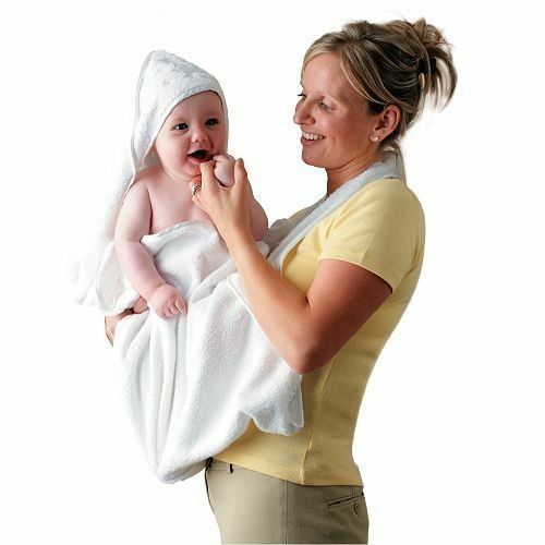 Clevamama Extra Large Hooded Baby Towel and Apron Wrap Choose Your Colour