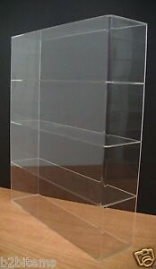DS-Acrylic-Counter-top-Display-Case-16-034-x-4-034-x-19-034-Show-Case-Cabinet-Shelves