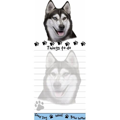 Siberian Husky Tall Magnetic Notepad