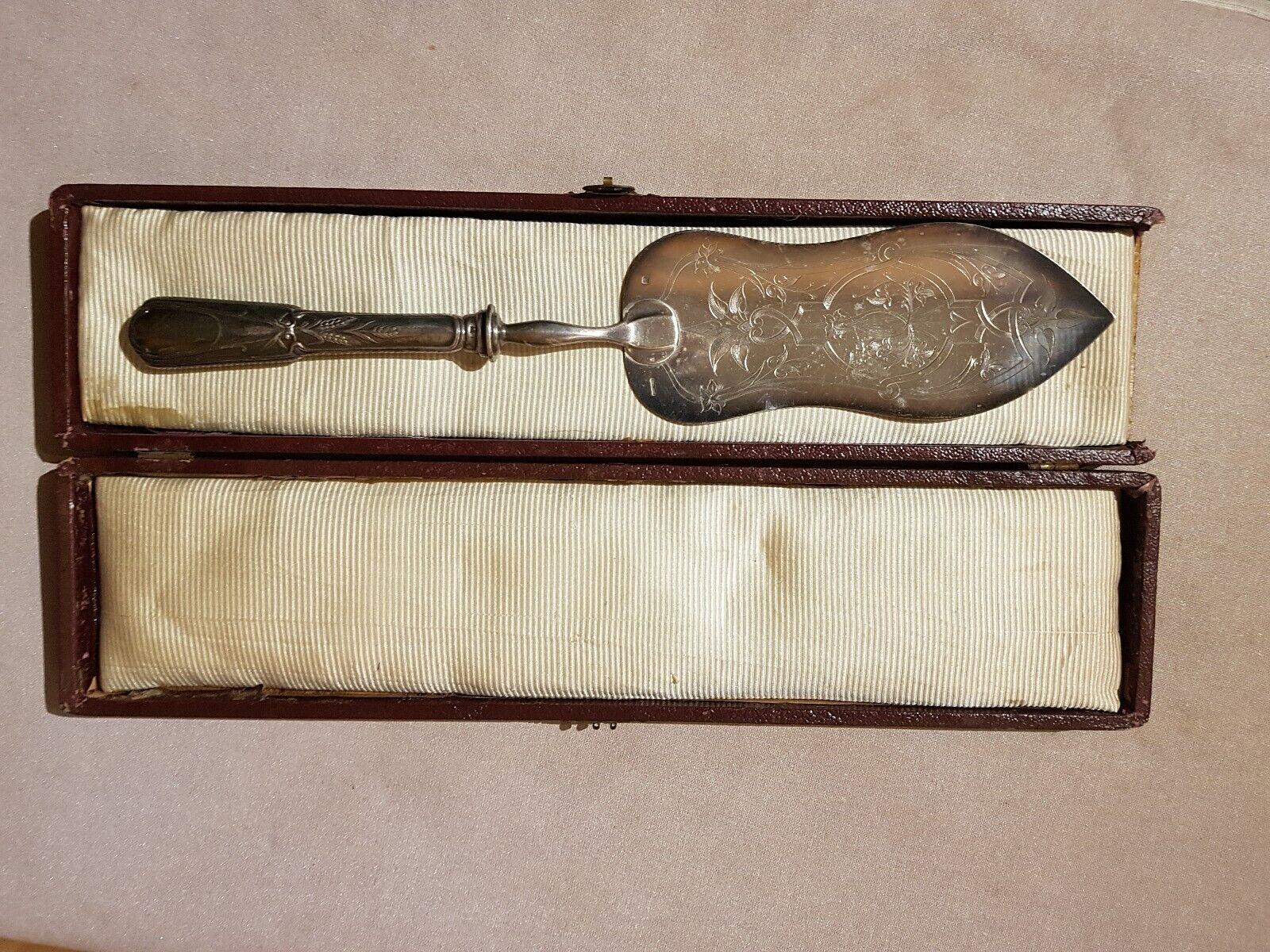 Pelle à poisson ancienne métal argenté christofle