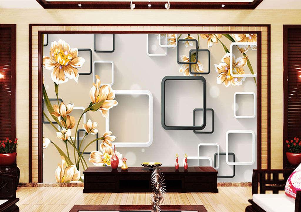 Flowers Floating Around 3D Full Wall Mural Photo Wallpaper Print Home Kids Decor