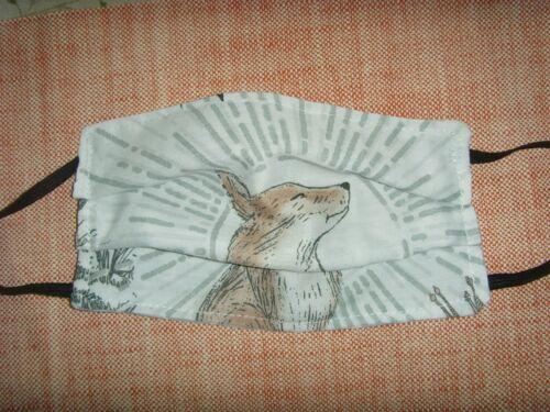 Hecho a mano Cara protectora que cubre los adultos Fantasía Fox rayos solares Algodón Lavable