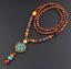 Lange-Halskette-Nepal-Boho-Anhaenger-Retro-Vintage-Holz-Handgefertigt-Perlen Indexbild 12