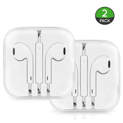 2PCS New Headphones Earphones With Remote & Mic For Apple iPhone 6S 6 5 5S 4S