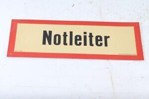 Old Shield Manager Ladder Warning Sign 42cm x 14,4cm x 1mm