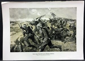 Belgium-Flanders-German-Soldiers-Regiment-Military-WK1-Art-Print-W-4192