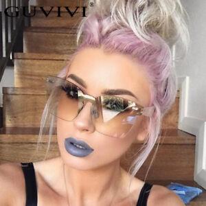 Oversized-Transparent-Rimless-Square-Cat-Eye-Women-Gradient-Sunglasses-UV400