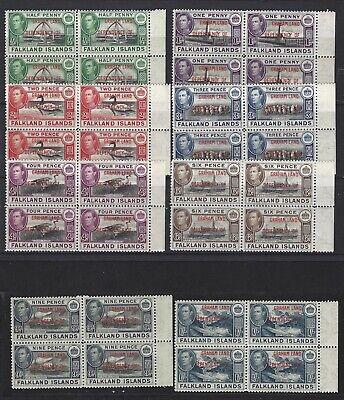 Minr Viererblock Sinnvoll Falklang A 1-8 Graham Land 1944 König George Vi Volumen Groß