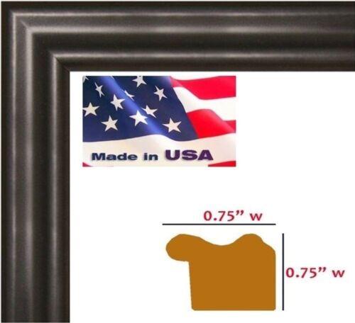 """7/"""" Sizes US ART Frames .75/"""" Black Solid Poplar Wood Picture Poster Frames"""