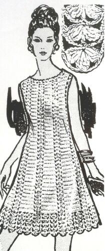 SZ 10-16 839 Vintage Mail Order A LOVELY DRESS Pattern To Crochet Reproduction