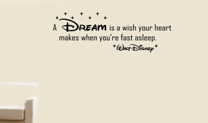 Disney Quotes Wall Art Stickers Decals A Dream Is A Wish Your Heart