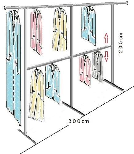 4 VARIANTEN PROFI KLEIDERSTÄNDER HÄNGEREGAL KLEIDERSTANGE GARDEROBE St.2.100-300