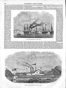 Bateaux à Vapeur Voyage Etats-Unis Nouvelle Orléans Alabama Albany GRAVURE 1848 - France - STEAMBOAT TRAVEL UNITED STATES NEW ORLEANS ALABAMA ALBANY VIRGINIA France ANTIQUE PRINTGRAVURE 100 % DÉPOQUE 1848 PORT GRATUIT EUROPE A PARTIR DE 4 OBJETS BUY 4 ITEMS AND EUROPE SHIPPING IS FREE Il s'agit d'un fragment de page originale avec tex - France